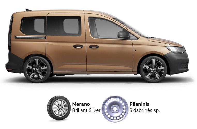 Volkswagen Caddy padangos ir ratlankiai