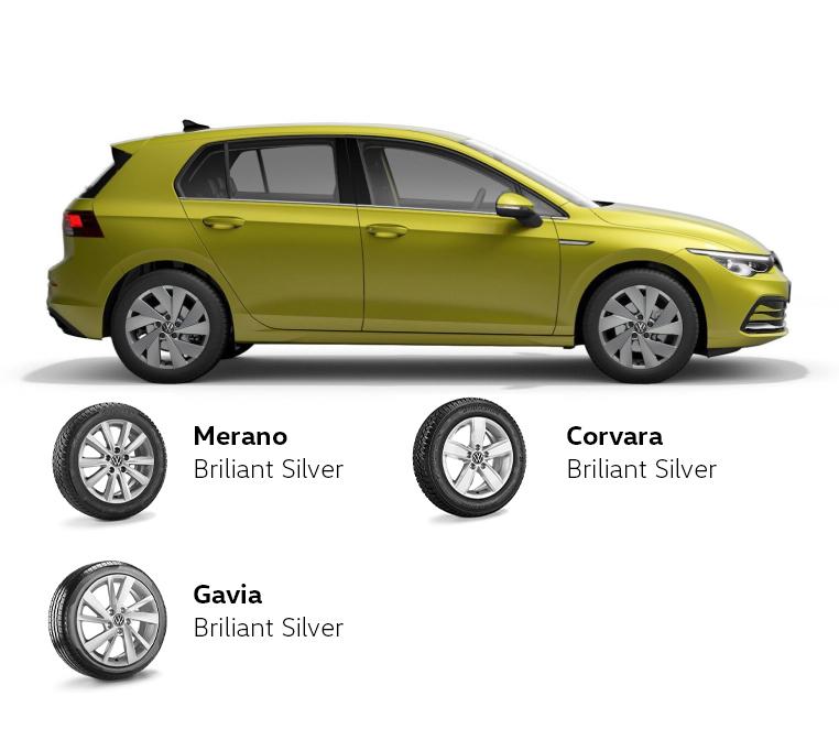 Volkswagen Golf/Golf Variant padangos ir ratlankiai