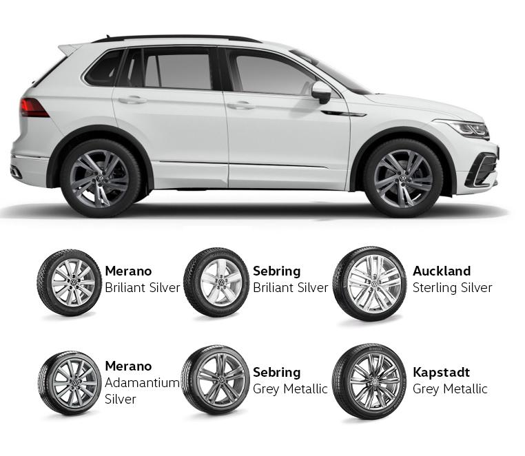 Volkswagen Tiguan padangos ir ratlankiai